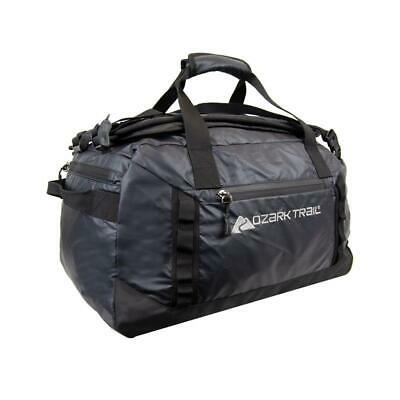 Black Packable All-Weather Duffel Bag 45 L Large Foldable Outdoor Camping Trail