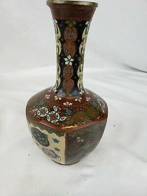 Excellent antique Japanese cloisonne vase