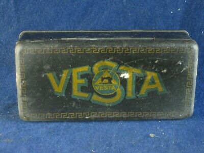 36664 Old Vintage Antique Sewing Machine Spares Needle Tin Vesta
