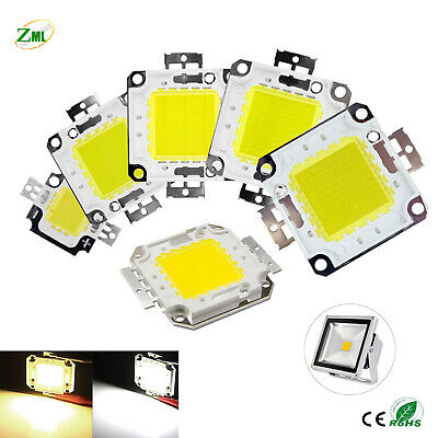 LED COB Chip 10W 20W 30W 50W 70W 100W White 12V-36V for Floodlight Super bright