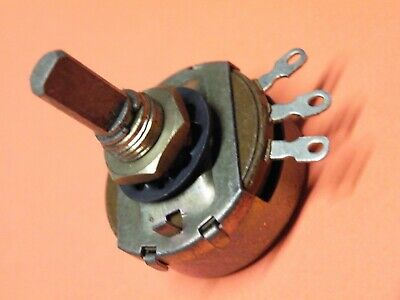 "24mm Single Gang AB Potentiometer 1K Lin 1//4/"" Spindle with Nut =B6 CU38"
