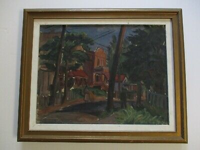 Ben Benn Painting New York Russian Antique 1930'Sa Wpa Era Regionalism Urban Mod