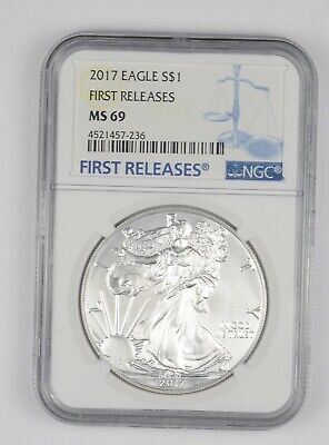 MS69 2017 American Silver Eagle - First Releases - Graded NGC *581