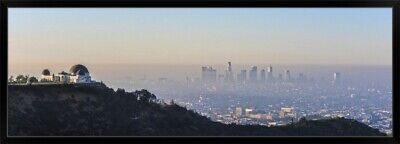 """Los Angeles, California Skyline with the Griffith Observatory - Panoramic"" B"