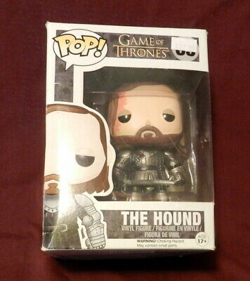 Funko Pop! The Hound Vinyl Vaulted Game of Thrones Rare Some wear to Box