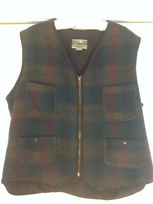 Eastern Mountain Sports, Men's vintage vest, hunting/outdoor, part wool, USA