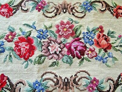 Craft Tapestry Completed Roses Large Oblong Centre Piece