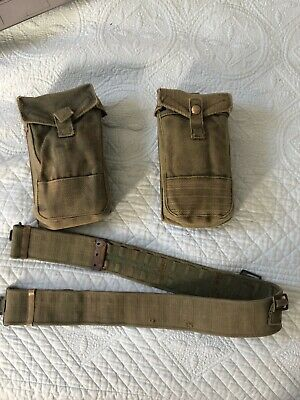 WW2 Australian Jungle green P37 Webbing