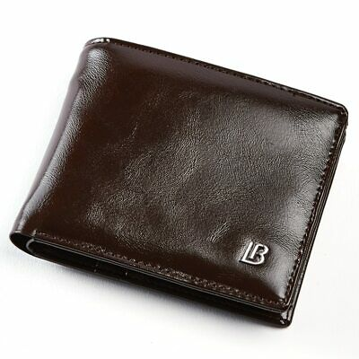Men's Leather Wallet Passcase Trifold ID Credit Card Holder Photo Case Purse New