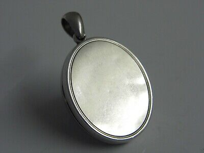 A Fine Antique Victorian Solid Sterling Silver Double Photo Locket Pendant