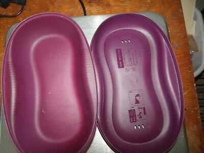 Tupperware Microwave Breakfast Maker  Amethyst Rhubarb 6996b lid bottom