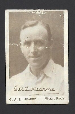 United Tobacco - Cricketers & Their Autographs - G A L Hearne, West Prov