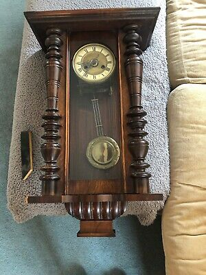 Antique Vienna Striking Wall Clock