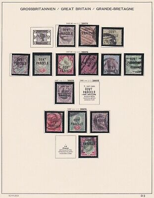 Postage Stamps Gb Qv & Kevii Overprints Rare Issues On Old Album Page