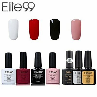 Elite99 Esmalte de Uñas Semipermanente Uñas de Gel UV LED Kit de Manicura 7pcs c