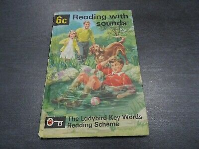 6c - Reading with Sounds - Vintage Ladybird book. Key Words Reading - Matt Cover