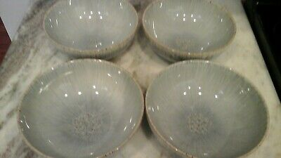 """DENBY - LANGLEY HALO SPECKLED Set Of 4 Coupe CEREAL BOWLS 6 1/2""""  NEW WITH TAGS"""