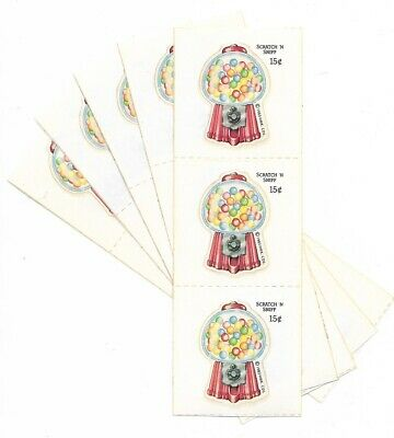 LOT VINTAGE 80s Hallmark Sniff Stickers - BUBBLE GUM - 5 STRIPS