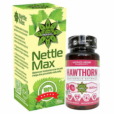 Hawthorn Berry Heart Care and Nettle extract Prostate Health Antioxidant