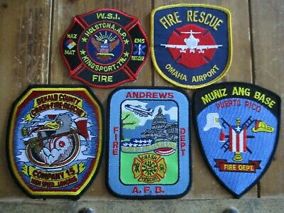 5 ARFF/Military Fire Patches #24
