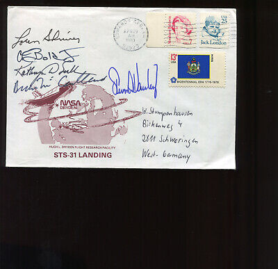 Sts-31 5 Astronaut Signed Cover Nasa Space Shuttle Program