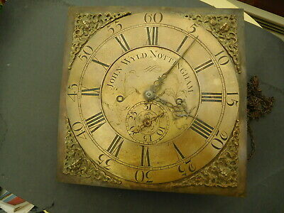 Georgian Longcase Clock Face and Movement John Wyld Nottingham