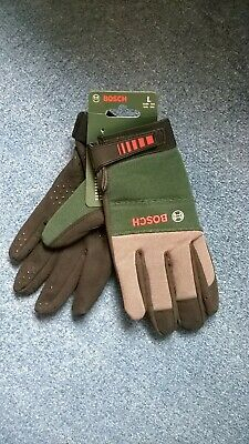 NEW WITH TAG LADIES Bosch F016800292 Gardening Gloves - Large. CHARITY SALE