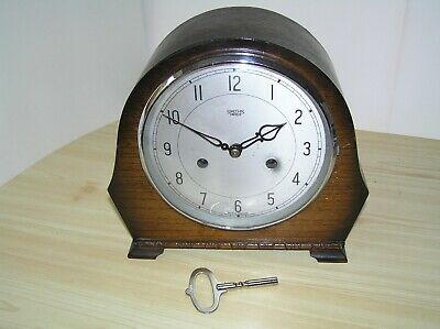 Smiths Enfield 8-Day STRIKING MANTEL CLOCK Refurbished Working GWO Mantle
