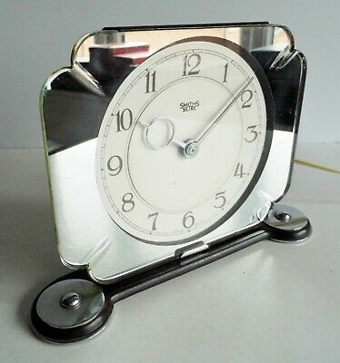 WONDERFUL 1930's ART DECO SMITHS SECTRIC ELECTRIC MIRRORED CLOCK - SUPERB PIECE