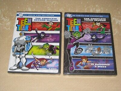 SEALED TEEN TITANS COMPLETE SECOND AND THIRD SEASON DVDs 13 EPISODES, 2 DISCS EA