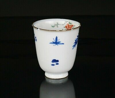 Rare Antique Chinese Blue and White Famille Verte Porcelain Cup KANGXI 1662-1722