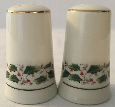 Vintage Fine China Japan Holly Holiday (FCJ5) Salt and Pepper Shakers