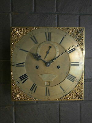 C1750 8 day   LONGCASE GRANDFATHER CLOCK DIAL+movement 12X12