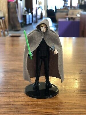 Vintage Star Wars Luke Skywalker Jedi Knight w/Blaster Cape & Green Lightsaber