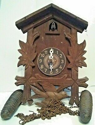 2 OLD Cuckoo Clocks for Renovation! 6