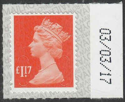 GB 2017 £1.17 CODE M17L SBP2u DATED 03/03/17 on SELVEDGE MNH From Counter Sheet