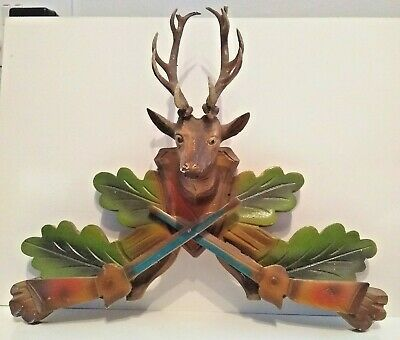 Cuckoo Clock Embellishment! Stag with a fine set of Horns++