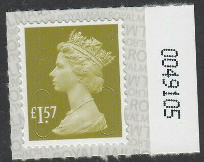 2017 £1.57 CODE M17L SBP2u NUMBERED 0049105 on SELVEDGE MNH From Counter Sheet
