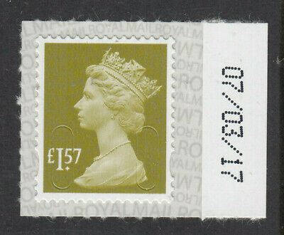 GB 2017 £1.57 CODE M17L SBP2u DATED 07/03/17 on SELVEDGE MNH From Counter Sheet