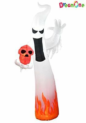 Dreamone 9 Foot Halloween Inflatable Flashing Flame Ghost for Halloween (Flame)