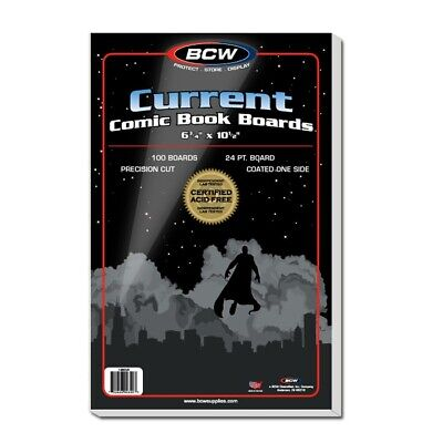 BCW Current Comic Backing Boards -- Case of 1000 (Bulk)