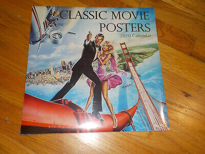 Classic Movie Posters 2020 Calendar A View to a Kill/Grease/Jaws/Star Wars/E.T.