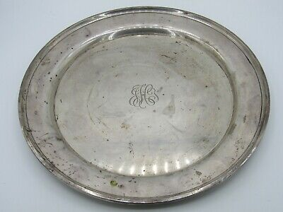Vintage Wallace Sterling Silver Charger Serving Plate Monogrammed
