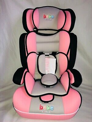 Baby Car Seat 3 in1 9 moths to 12 years 9 to 36 kg Restraint Safety Booster Pink