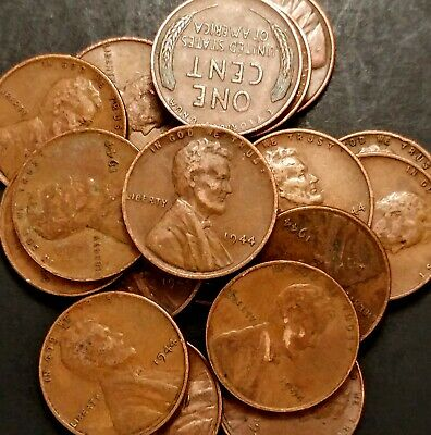 LOT 20pcs 1944-P Lincoln Wheat Cent ~ Very Fine VF Cndtn ~ $20 ORDERS SHIP FREE!