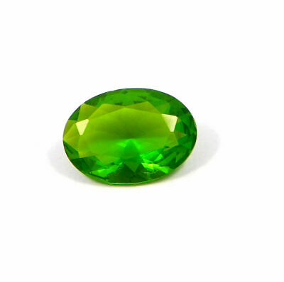Treated Faceted Emerald Quartz Gemstone  6 CT 12x8mm  RM17917