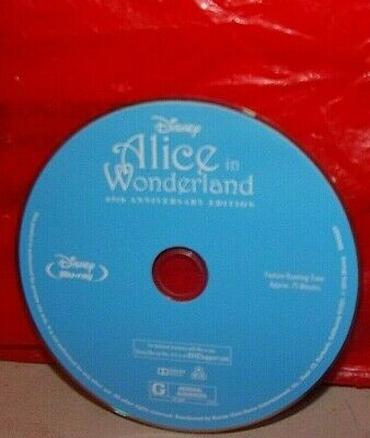 Disney's Alice in Wonderland 65th Anniversary Bluray DISC ONLY!!