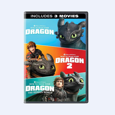 How To Train Your Dragon 1-3( DVD Includes 3 Movies ) Brand New Factory Sealed