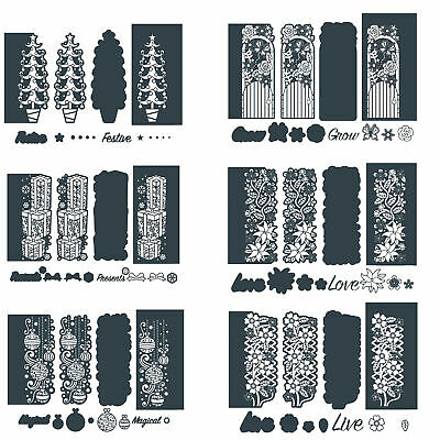 Christmas And Flowers Metal Cutting Dies Stencil For Diy Scrapbooking Paper Card