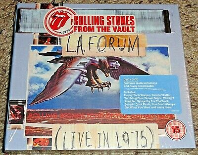 Rolling Stones From The Vault LA Forum Live 1975 PROMO COPY 2CD 1 DVD SEALED  SS